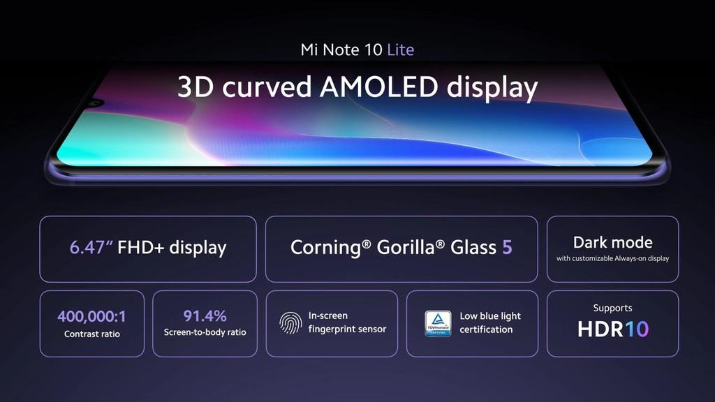 Xiaomi Mi Note 10 Lite ra mắt: Snapdragon 730G, pin 5.260 mAh sạc nhanh 30W, giá từ 379 USD ảnh 4