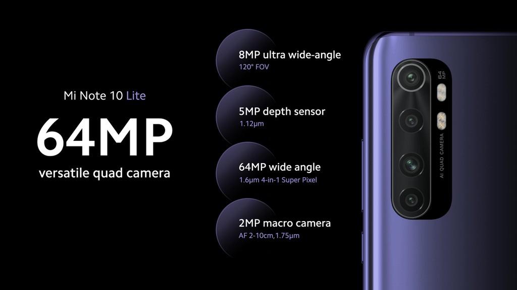 Xiaomi Mi Note 10 Lite ra mắt: Snapdragon 730G, pin 5.260 mAh sạc nhanh 30W, giá từ 379 USD ảnh 5