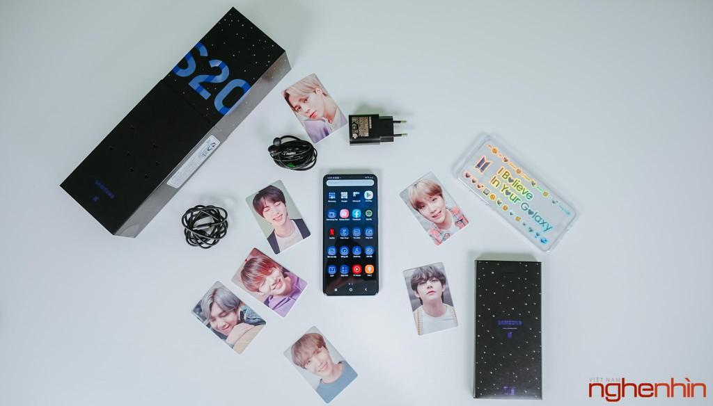 Trên tay Samsung Galaxy S20+ BTS Edition: Màu đẹp nhất của S20, biết chiều lòng fan ảnh 4