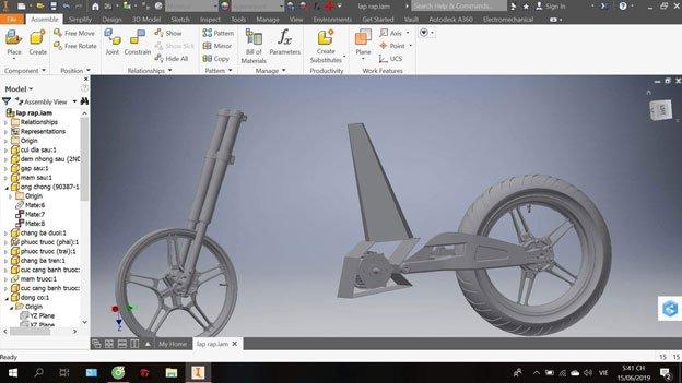 Thiết kế tạo hình 3D trên phần mềm Autodesk Inventor
