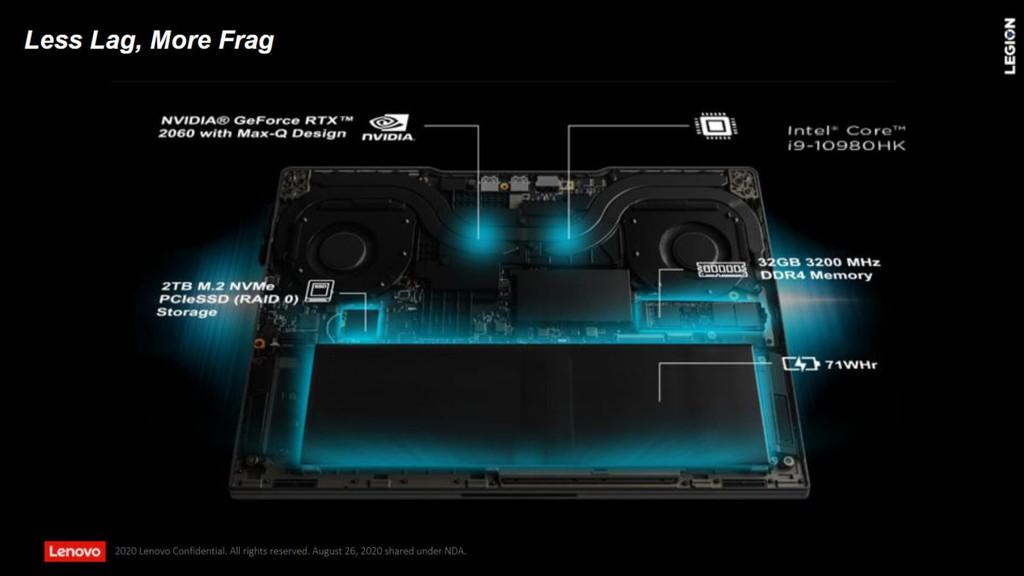 Legion Slim 7i: Laptop gaming mỏng nhẹ, Core i9 HK-series, SSD 2TB, RAM 32GB của Lenovo ảnh 3