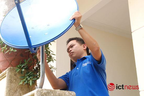 15 tỉnh miền núi, Tây Nguyên kết hợp hỗ trợ đầu thu truyền hình vệ tinh tại vùng lõm sóng