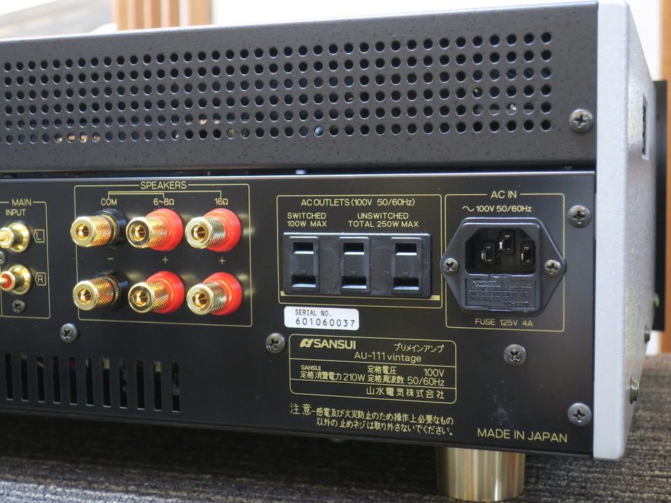 Ngắm ampli đèn cổ quý hiếm chỉ sản xuất 100 chiếc, Sansui AU-111G trong tình trạng nguyên thùng ảnh 9