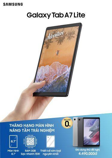 """Samsung ra mắt dòng Galaxy Tab A7 Lite - Màn hình lớn 8,7"""" giá 4,5 triệu ảnh 2"""