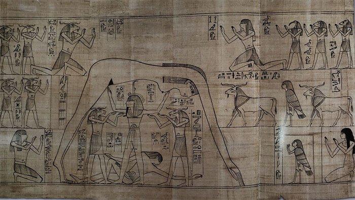 Một tranh vẽ trên cuộn cói papyrus dài 37m - cuốn tử thư của Nestanebetisheru.