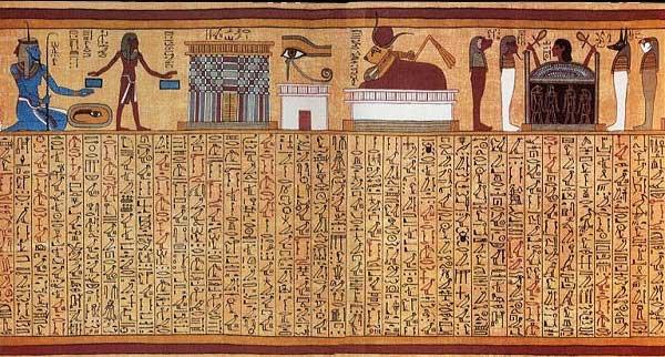 Nghi lễ mai táng của người Ai Cập cổ cũng được mô tả trong cuốn tử thư