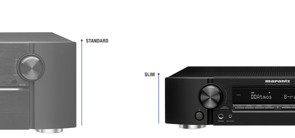Marantz NR1711 – Receiver 8K siêu mỏng, 90W x 7 kênh, ngập công nghệ ảnh 3
