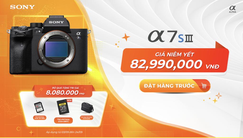 Sony ra mắt Alpha 7S III tại Việt Nam, giá 82,9 triệu đồng, quà 8 triệu ảnh 2