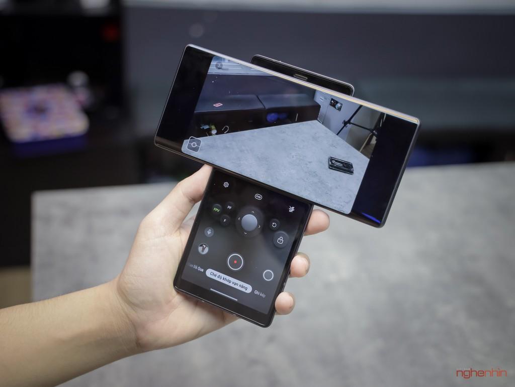 Trên tay LG Wing tại Việt Nam: màn hình xoay chữ T siêu dị  ảnh 10