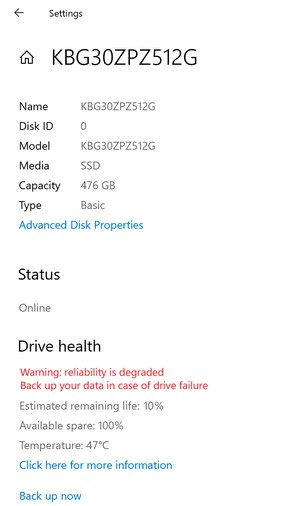 Windows 10 thử nghiệm tính năng dự báo lỗi ổ cứng ảnh 2