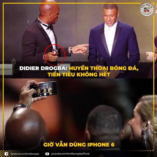 Huyền thoại Drogba tiền tiêu không hết vẫn dùng điện thoại cùi