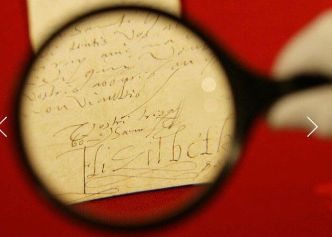 Một lá thư tay được viết bởi Nữ hoàng Elizabeth I.