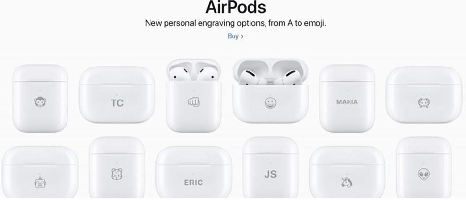 Giờ đây bạn có thể khắc biểu tượng cảm xúc lên hộp sạc AirPods ảnh 1