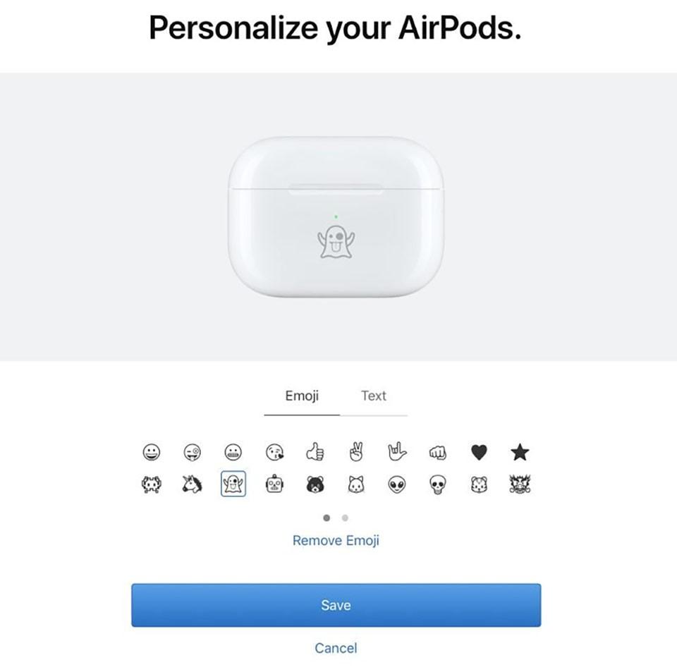 Giờ đây bạn có thể khắc biểu tượng cảm xúc lên hộp sạc AirPods ảnh 2