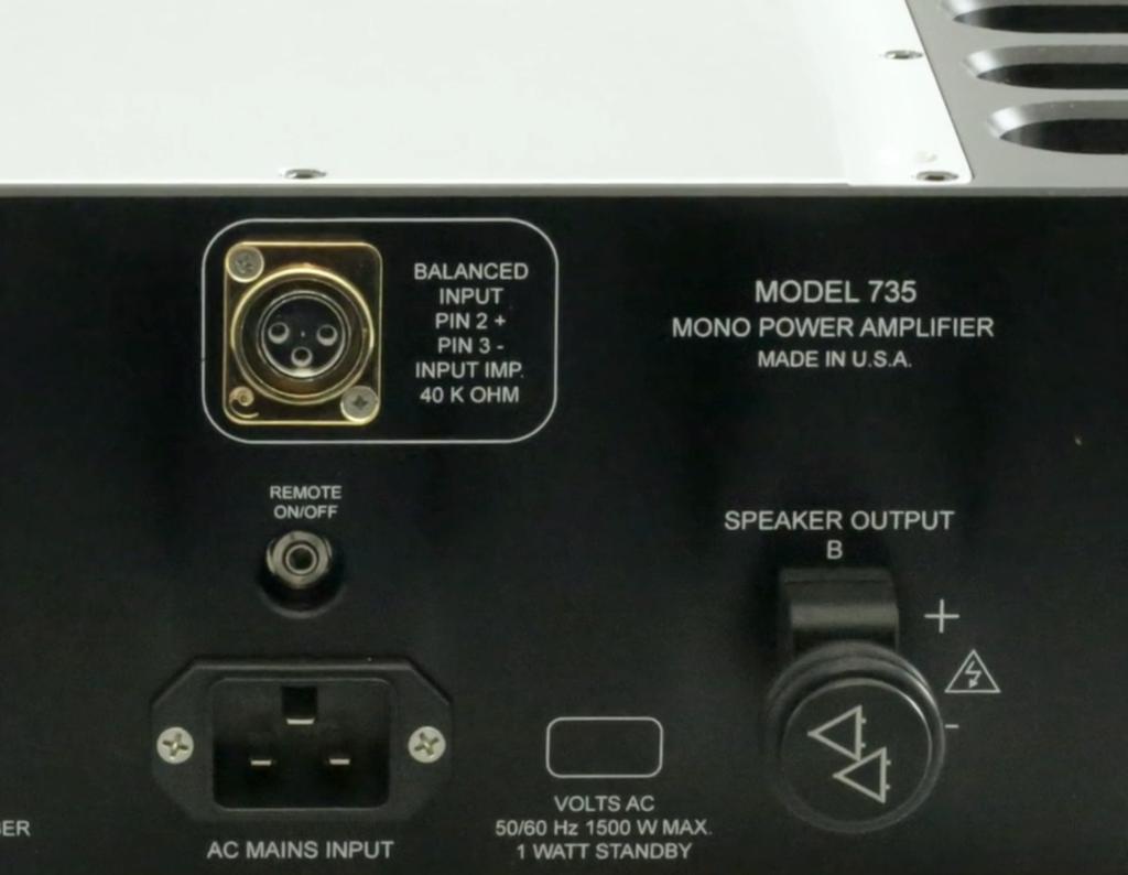 Jeff Rowland Model 735, nút nguồn mới, nâng cấp biến áp, chống nhiễu tinh vi ảnh 3