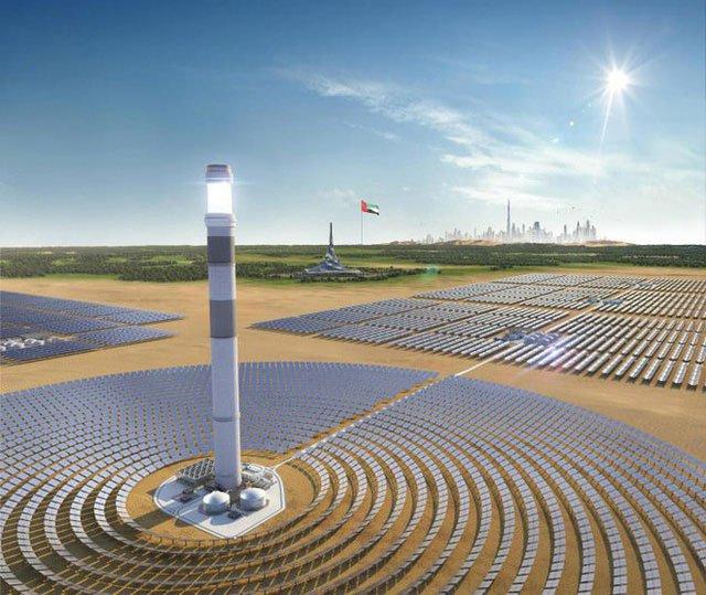 Bản vẽ kĩ thuật số của Tháp năng lượng tại công viên Mohammed Bin Rashid Al Maktoum