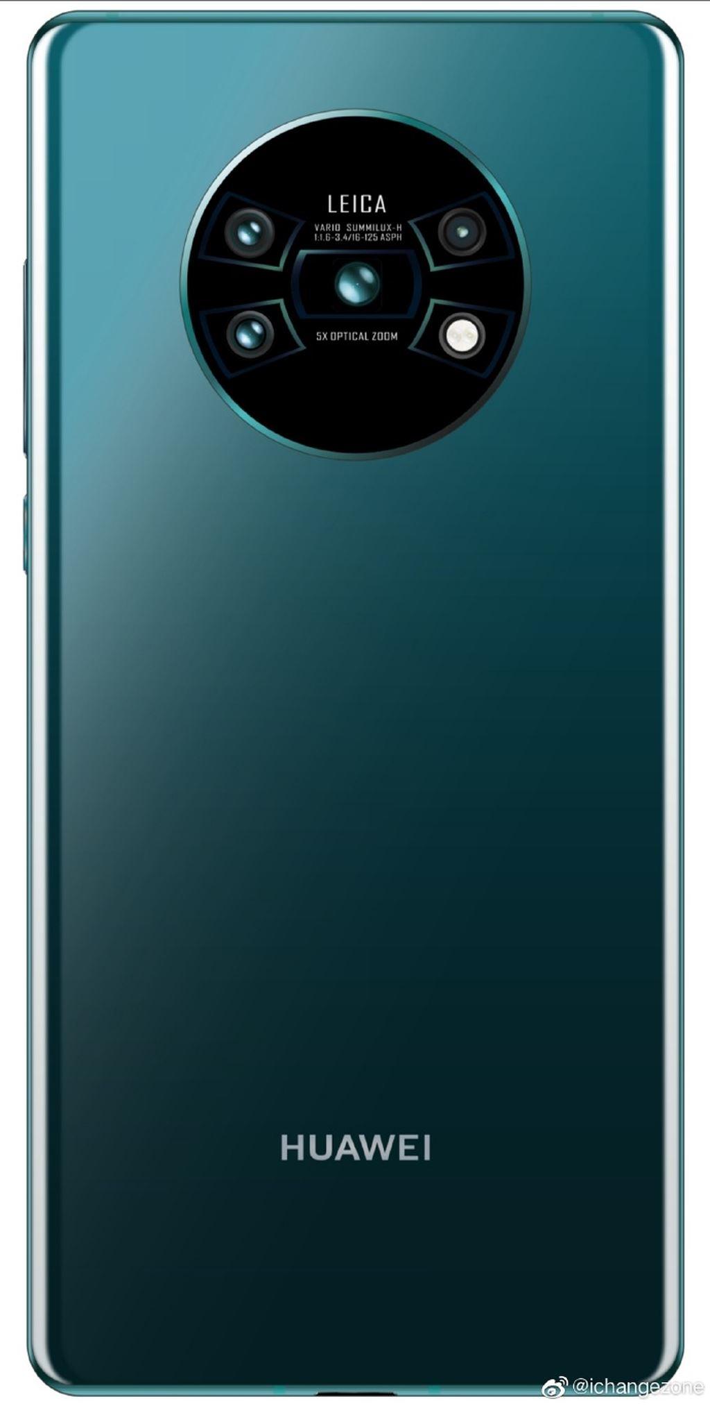 Huawei Mate 30 Pro lộ thiết kế màn hình và camera phía sau khá lạ ảnh 1