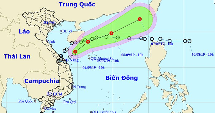 Sau khi đổ bộ vào đất liền Việt Nam, áp thấp nhiệt đới quay trở lại biển và hướng về phía Hong Kong.