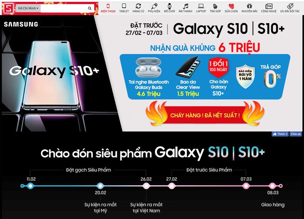 CellphoneS chính thức dừng đặt mua Galaxy S10/S10+ khi vượt hơn 5.000 suất  ảnh 1