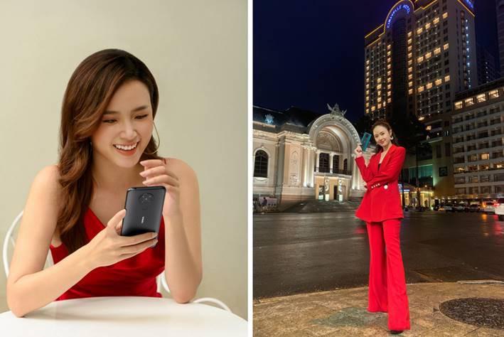 Nữ diễn viên xinh đẹp Midu và các đồng nghiệp đã ứng biến thế nào với Nokia 5.3 ảnh 1