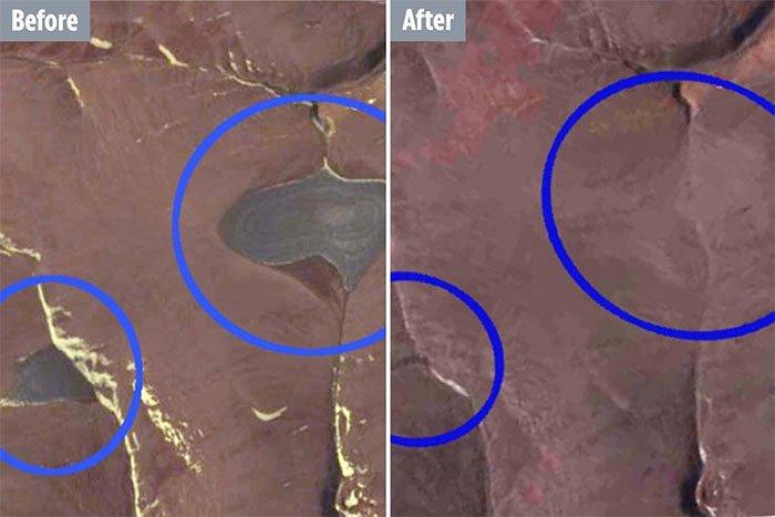 Hình ảnh được chụp qua vệ tinh NASA vào năm 2015