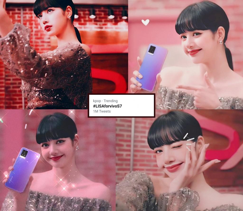 vivo S7 xuất hiện trên tay Lisa (BLACKPINK), hashtag #LISAforvivoS7 ngay lập tức đã trend NO.1  ảnh 1