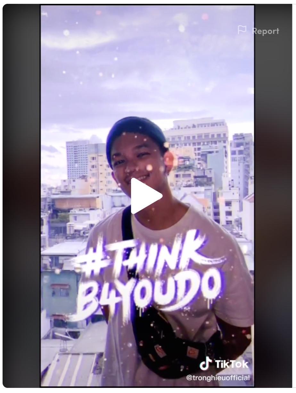 Sao Việt hưởng ứng chiến dịch #thinkb4youdo của TikTok