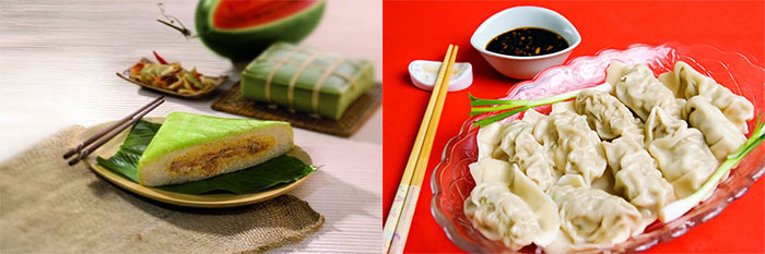 Món ăn truyền thống ngày Tết Việt Nam và Tết Trung Quốc