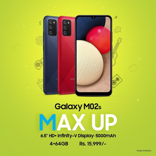 Galaxy M02s ra mắt: Snapdragon 450, ba camera, pin 5000mAh, giá 218 USD ảnh 2