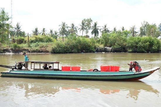 MobiFone tặng 1.400 thùng trữ nước ngọt cho người dân vùng hạn mặn miền Tây
