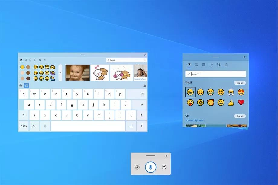 Microsoft phát triển bàn phím cảm ứng mới, nhập liệu bằng giọng nói cho Windows 10 ảnh 1
