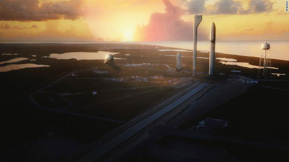 Mô phỏng dự án Big Falcon Rocket với tham vọng lập căn cứ Mặt trăng của Elon Musk