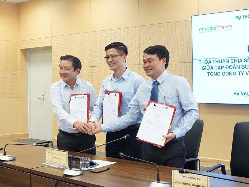 VNPT và MobiFone bắt tay dùng chung hạ tầng 700 trạm phát sóng mới