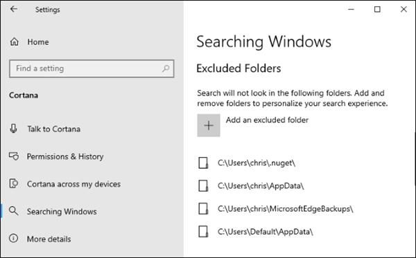 Tìm kiếm tập tin tức thời trên Windows 10