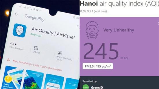 AirVisual bất ngờ khóa ứng dụng ở VN vì sợ cộng đồng mạng?