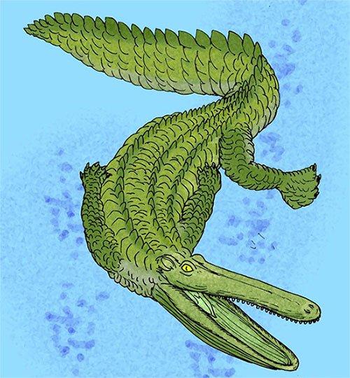Stomatosuchus inermis sống ở miền bắc Châu Phi trong kỷ Phấn trắng