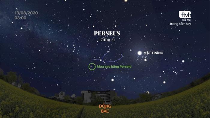Mưa sao băng Perseid năm 2020 có sự xuất hiện của ánh sáng trăng phá bĩnh.
