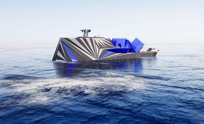 Du thuyền Fata Morgana có hình dáng giống núi băng trôi.