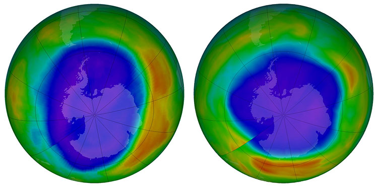 Tầng ozone được phục hồi