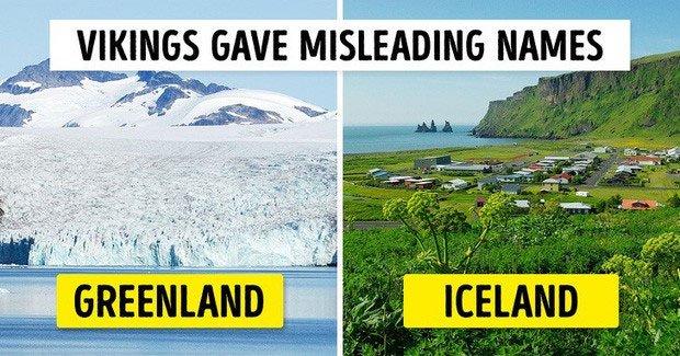 Đảo đầy băng thì tên là xanh tốt còn ngược lại đảo xanh tốt thì lại tên là băng.