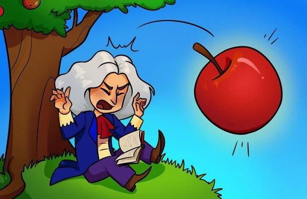 Không có chuyện táo rơi vào đầu Newton đâu.