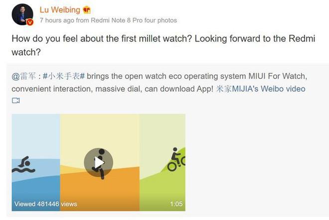 Xiaomi lại tiếp tục kế hoạch Redmi Watch giá rẻ ảnh 2