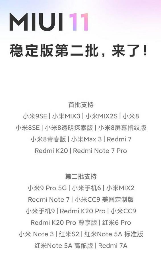 """Xiaomi mới bổ sung 12 smartphone được """"lên đời"""" MIUI 11 ảnh 2"""