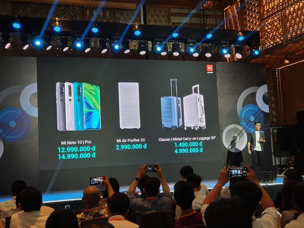 """Xiaomi ra mắt Mi Note 10, điện thoại """"siêu camera"""" tại Việt Nam, giá từ 13 triệu đồng"""