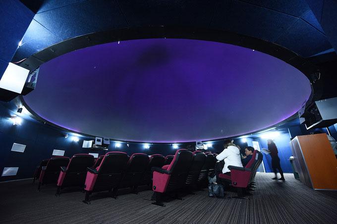 Đây là Đài thiên văn hiện đại nhất miền Bắc với nhà chiếu mái vòm hình vũ trụ quy mô 100 ghế ngồi.