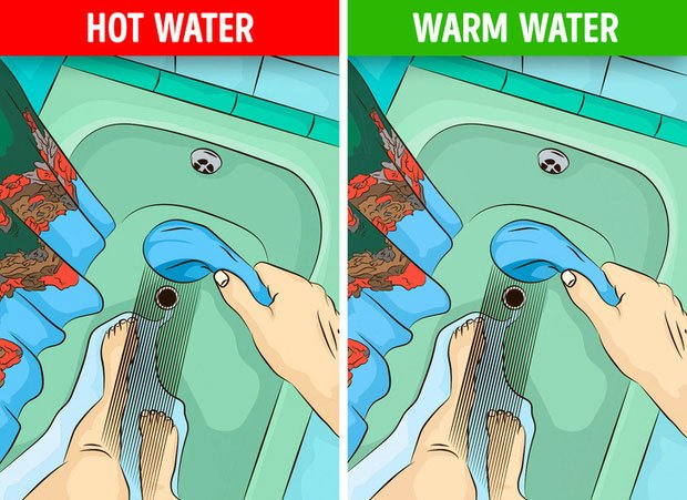 Do thói quen tắm sai cách