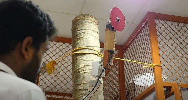 Cấu tạo cánh tay của con robot hái dừa.