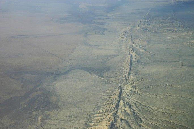 Đứt gãy San Andreas chụp từ trên cao