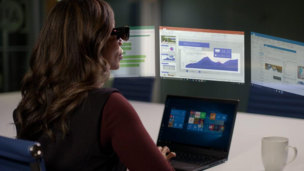 Kính thông minh Lenovo ThinkReality A3 hiển thị tối đa 5 màn hình ảo ảnh 5