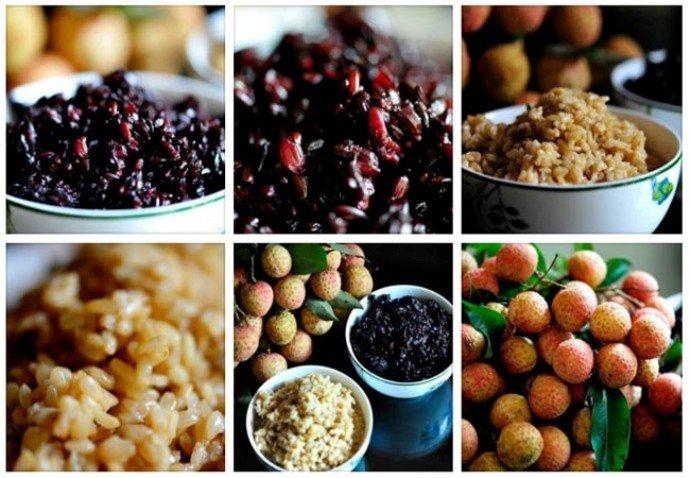 Mâm cúng Tết Đoan ngọ của người Việt thường có hoa quả, bánh tro, rượu nếp để diệt sâu bọ.